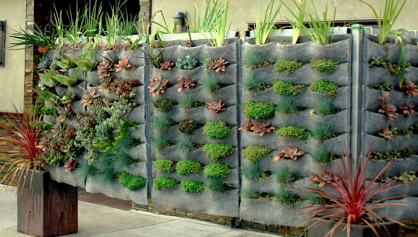 Raphael On Ventura, A Los Angeles Restaurant, Uses PlantsOnWalls Pleated  Planters To Create A Living Partition As Part Of Their Outdoor Eating Area.