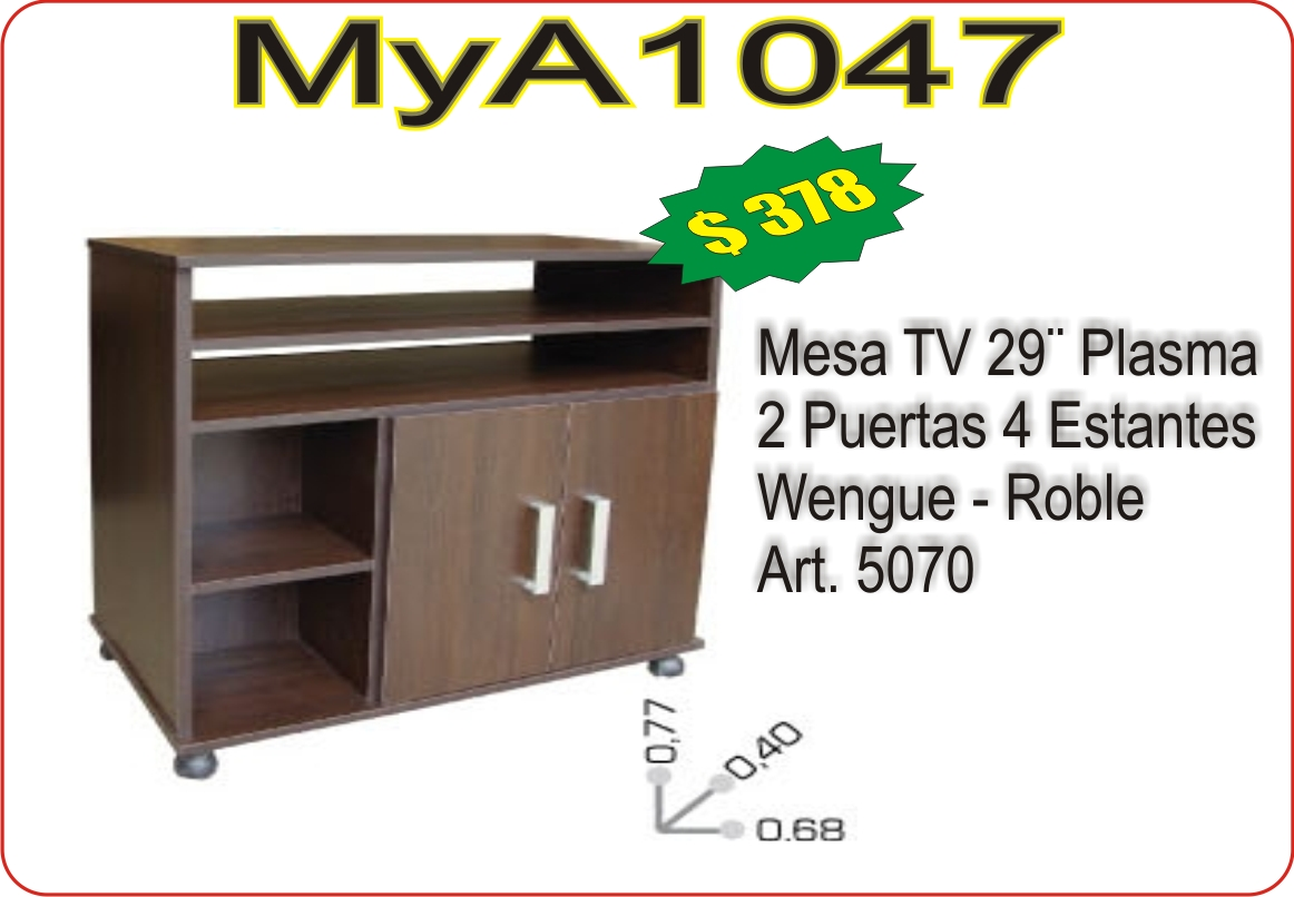 Mesa tv 29 plasma muebles a medida mya1047 for Mesas televisor plasma