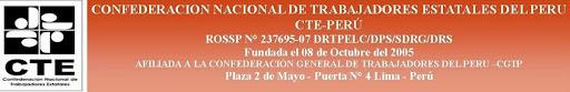 CONFEDERACION NACIONAL DE TRABAJADORES ESTATALES DEL PERU