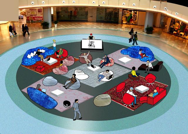 """""""The Cool Experience"""" Zona Chill Out en Centro Comercial LA GAVIA. Visualización"""