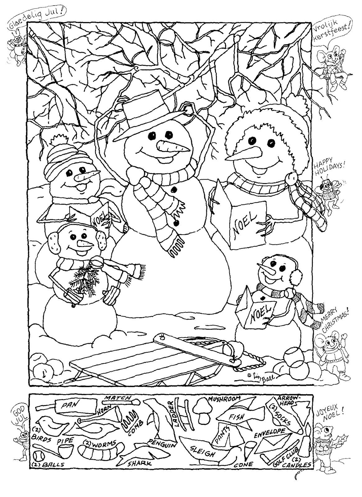 free hidden coloring pages - photo#17