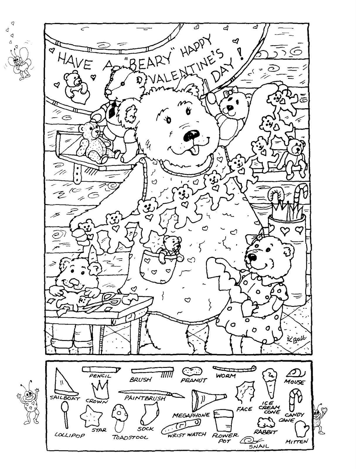 Collection of Free Printable Hidden Picture Worksheets ...