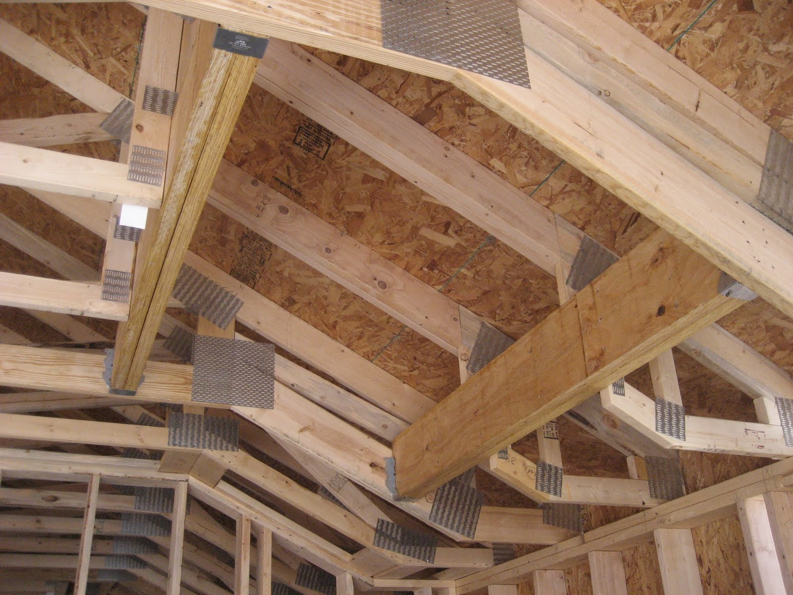 Swanson residence framing roof tie in for How to order roof trusses