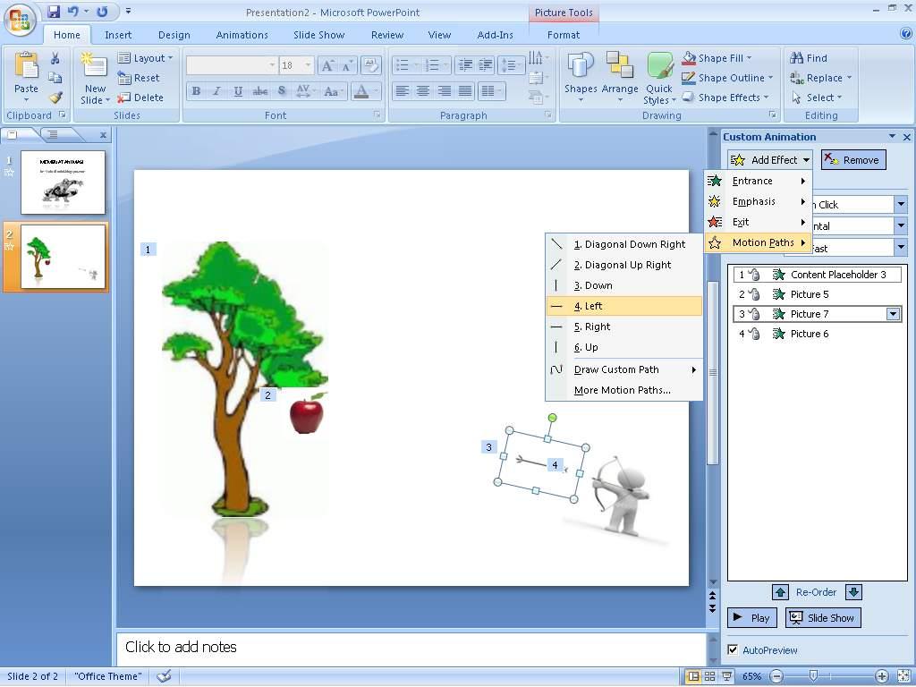 dyta blog rame bersama: Cara Membuat Animasi Microsoft