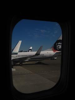 vue depuis l'avion qui nous emène à San Francisco