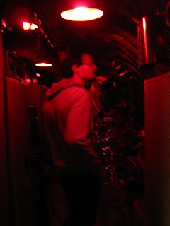 Une photo de l'intérieur de l'USS Pamponito