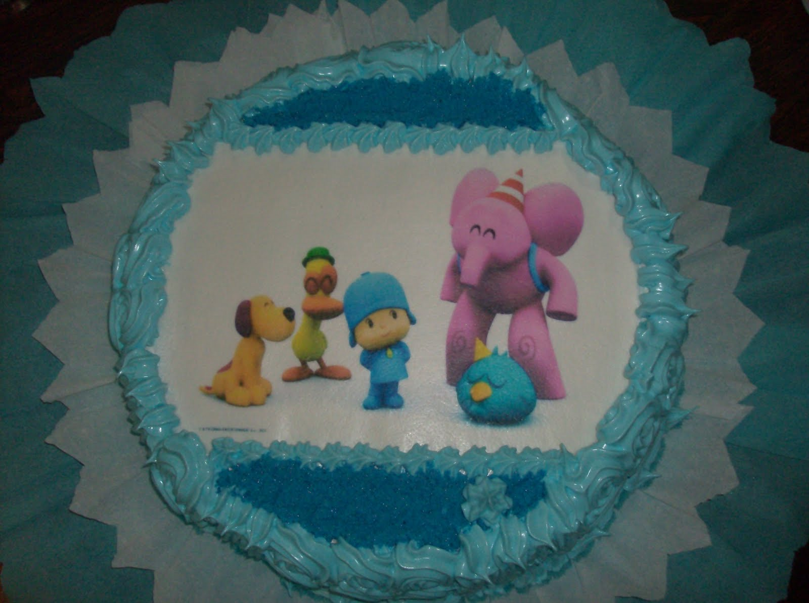 ... , Pasapalos, etc: Torta de Pocoyo decorada con Merengue Italiano