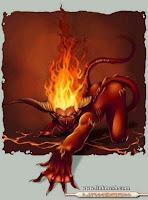 chica cara demonio