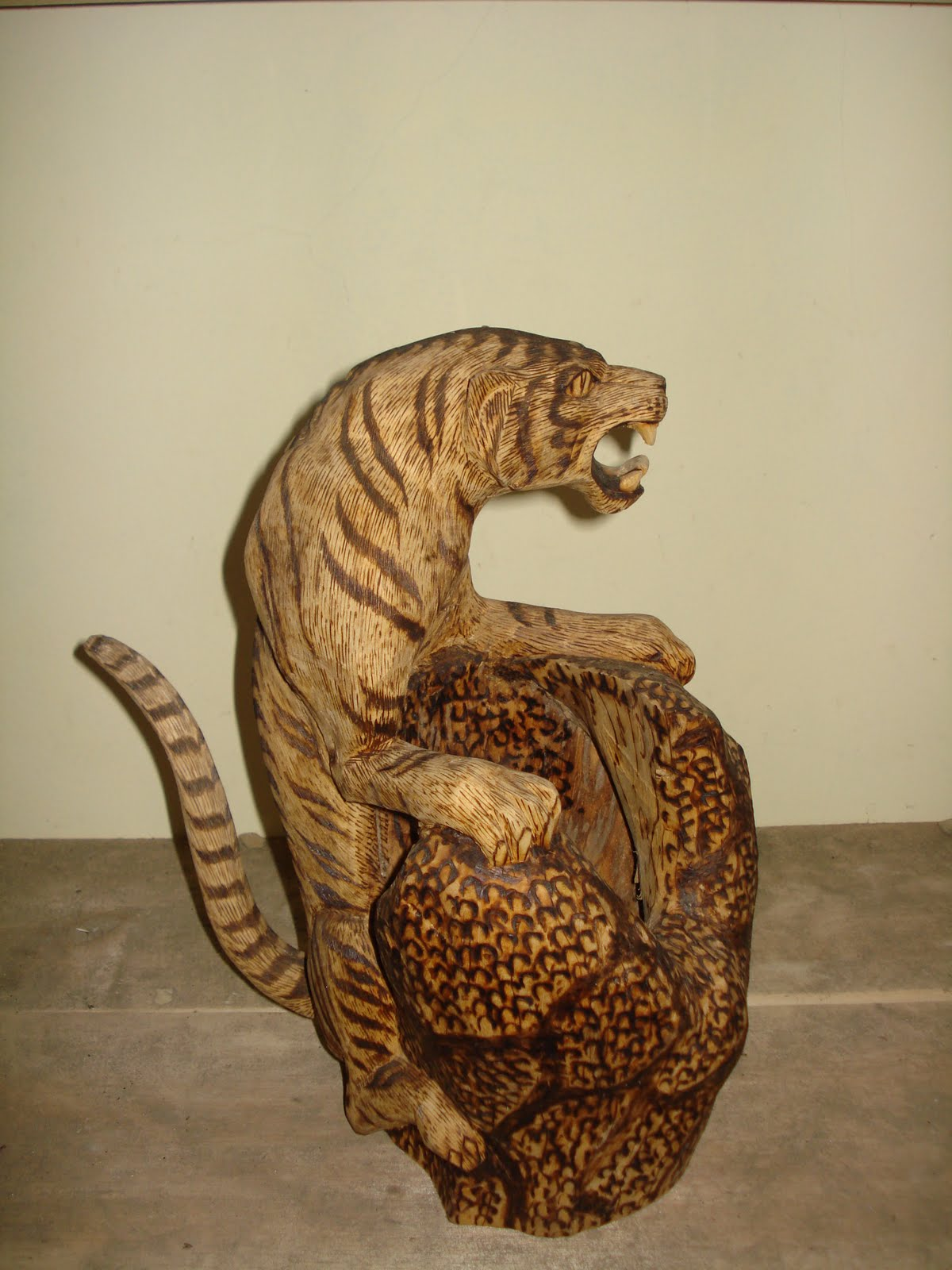 Wood carving animal animals