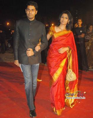 Nandita Das in Silk Saree at the Star Screen Awards function
