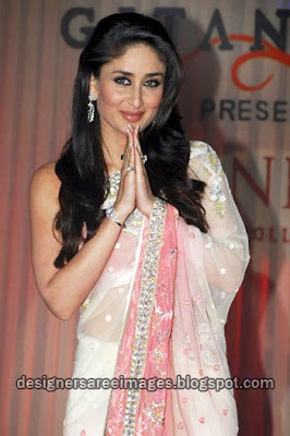 Kareena Kapoor in pink designer saree
