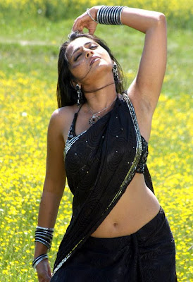 South Indian Actress in Black Saree Photos Anushka Shetty