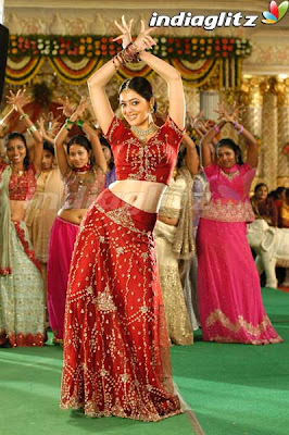 Parvathi in red designer Ghagra Choli