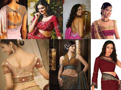 blouse saree accessories