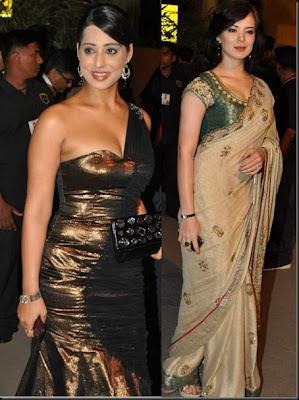 Urvashi Sharma in Designer Saree at Filmfare Awards Function
