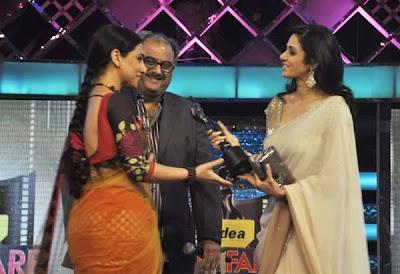 Vidya Balan won the Best Actress Award at 55th Filmfare Awards 2010