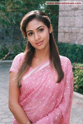 Actress Sada in Beautiful Pink Saree