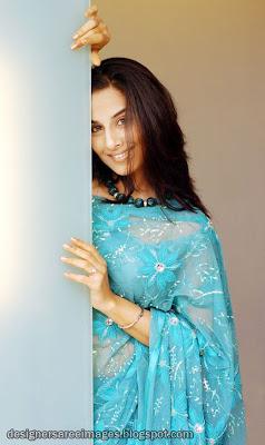 Vidya Balan in Blue Designer Saree