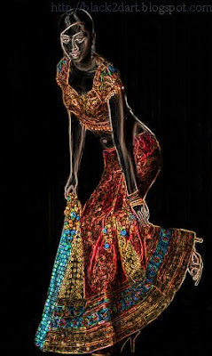 indian model wearing ghagra choli dress