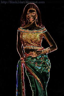 fancy blouse & designer work saree