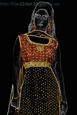 anarkali churidar dress image