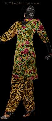 printed churidar dress