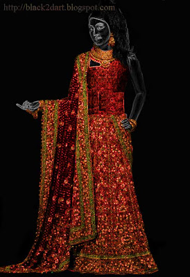 bridal wear saree india