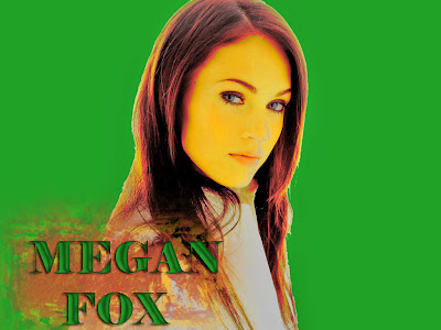 megan fox colorful poster wallpaper