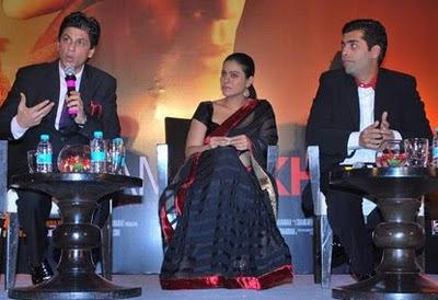 kajol in black designer saree