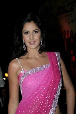Katrina kaif in rhinestone strap blouse design