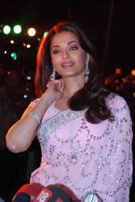 Aishwarya Rai in Pink Designer Saree
