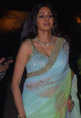 Sridevi in Designer saree blouse