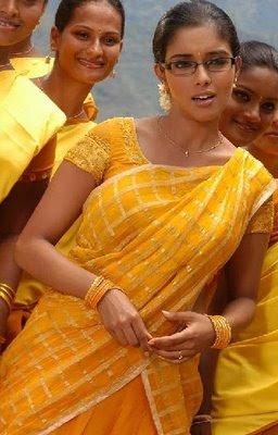 Asin in Yellow Half Saree