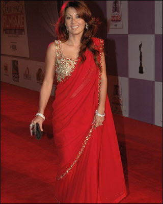 Minissha Lamba in Red Saree