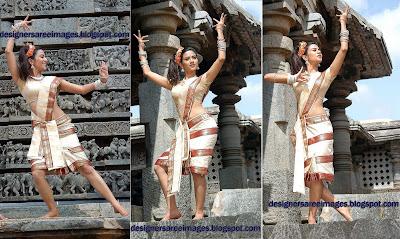 Tollywood Actress Aditi Sharma in Traditional Saree images