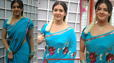 Tollywood Actress Jyothi Krishna in Blue Saree image