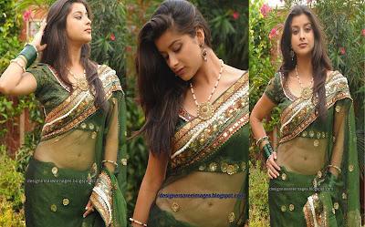 Actress Madhurima in Transparent Green Saree image