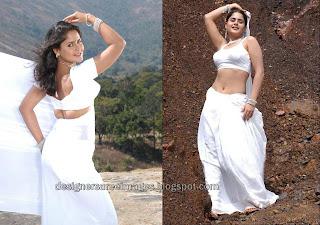 Tamil Actress Farzana in White Saree Photos