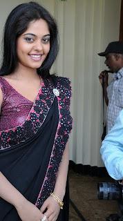 Indian Actress Bindu madhavi in Black Designer Saree