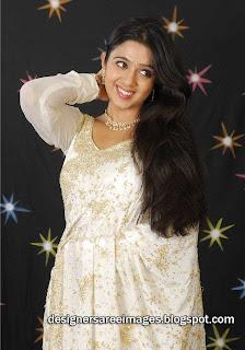 Telugu Actress Charmi Saree Stills