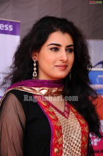 Actress Veda in Black Designer Salwar Kameez Pics
