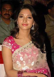 Actress Tamanna Saree Stills