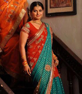 Actress Madhu Sharma in Multi color Printed Saree