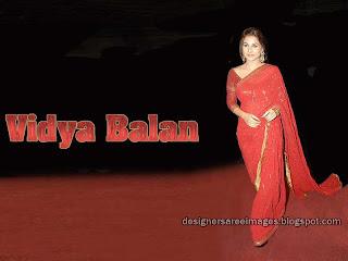 Bollywood Actress Vidya Balan in Saree Pictures