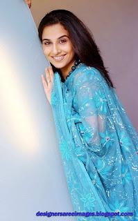Vidya Balan in Blue color printed saree