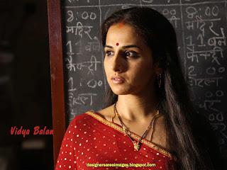 Vidya Balan in Red Saree with polka dots