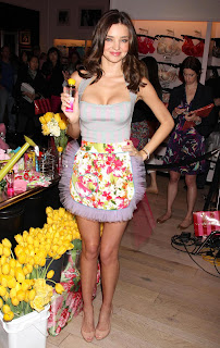 Hot Miranda Kerr Pics from Victoria's Secret Heavenly Flowers Fragrance Launch