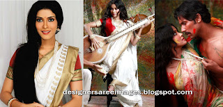Actress Nandana Sen in White Silk Saree