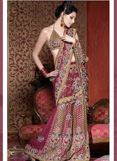 Models posing in Designer Sarees