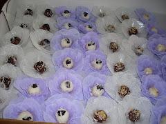 Mini doces suíços